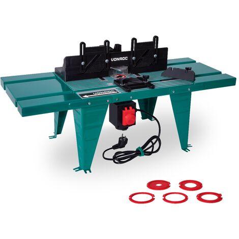 Table de fraisage pour défonceuse - Universelle - Compatible avec défonceuse de 155mm de diamètre et de1800W max