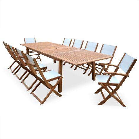 Table de jardin 10 chaises en bois - Almeria 300