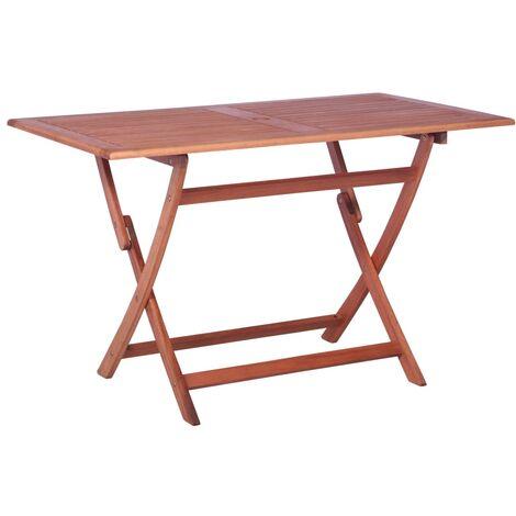 Table de jardin 120 x 70 x 74 cm Bois d\'eucalyptus solide ...