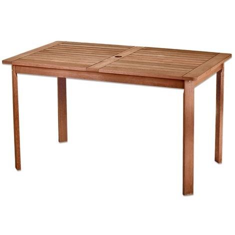 Table de jardin 140cm en bois exotique KORTA - L 140 x l 80 x H 74