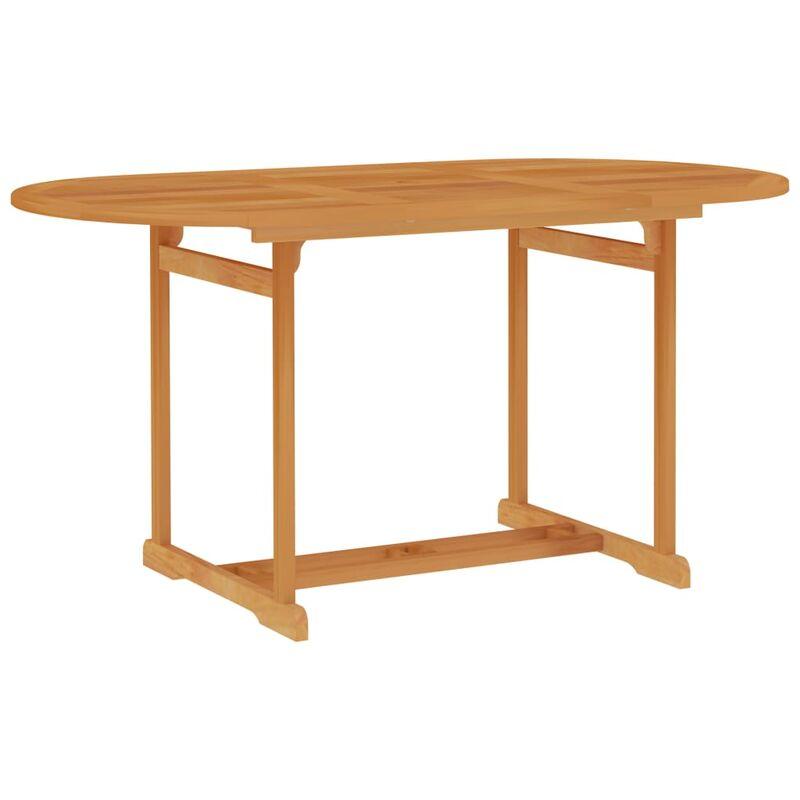 Table de jardin 150x90x75 cm Bois de teck massif