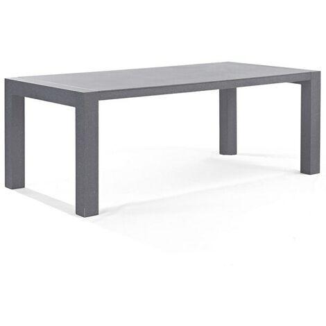 Table de jardin 200 x 100 x 75 cm en aluminium coloris gris