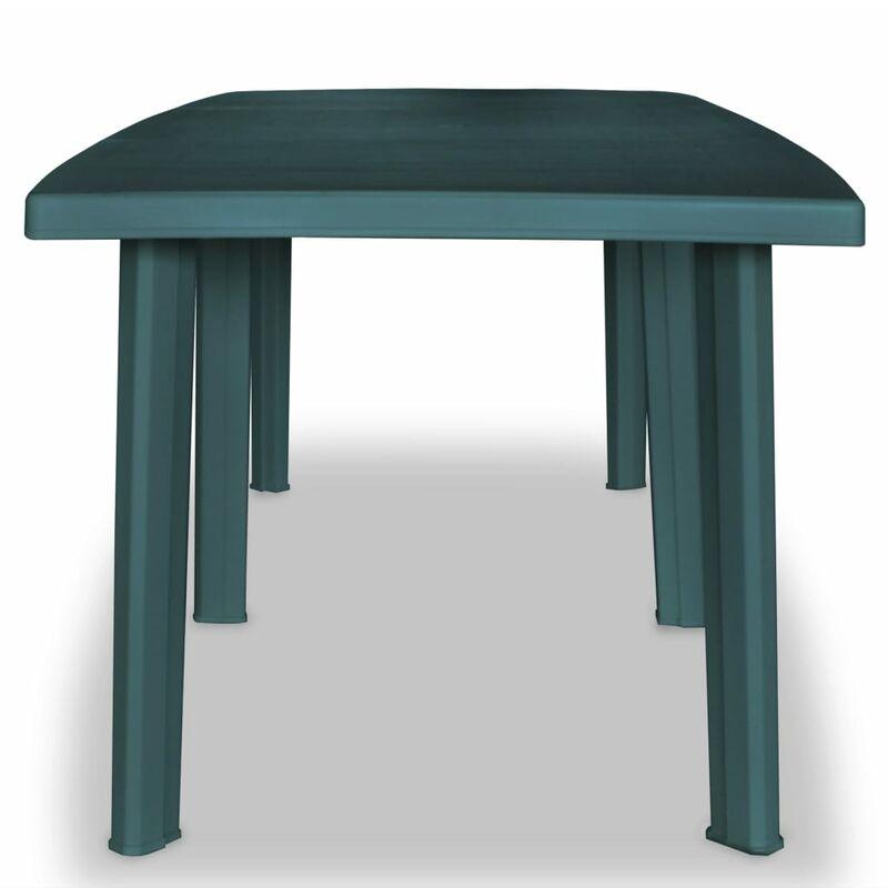 Table de jardin 210 x 96 x 72 cm Plastique Vert