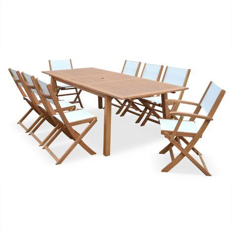 Table de jardin 8 chaises en bois - Almeria 240