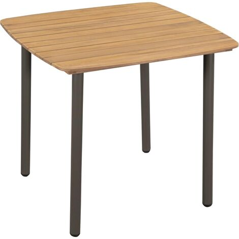 Table de jardin 80 x 80 x 72 cm Bois d\'acacia solide et ...