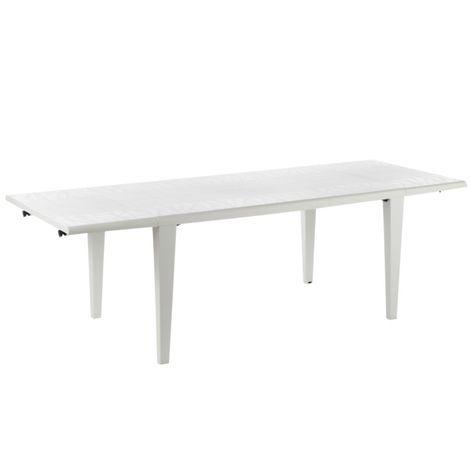 Table de jardin Alpha 240 GROSFILLEX - Blanc - Extérieur - Résistant ...