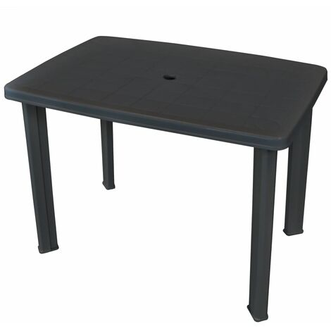 Table de jardin Anthracite 101 x 68 x 72 cm Plastique - 43594