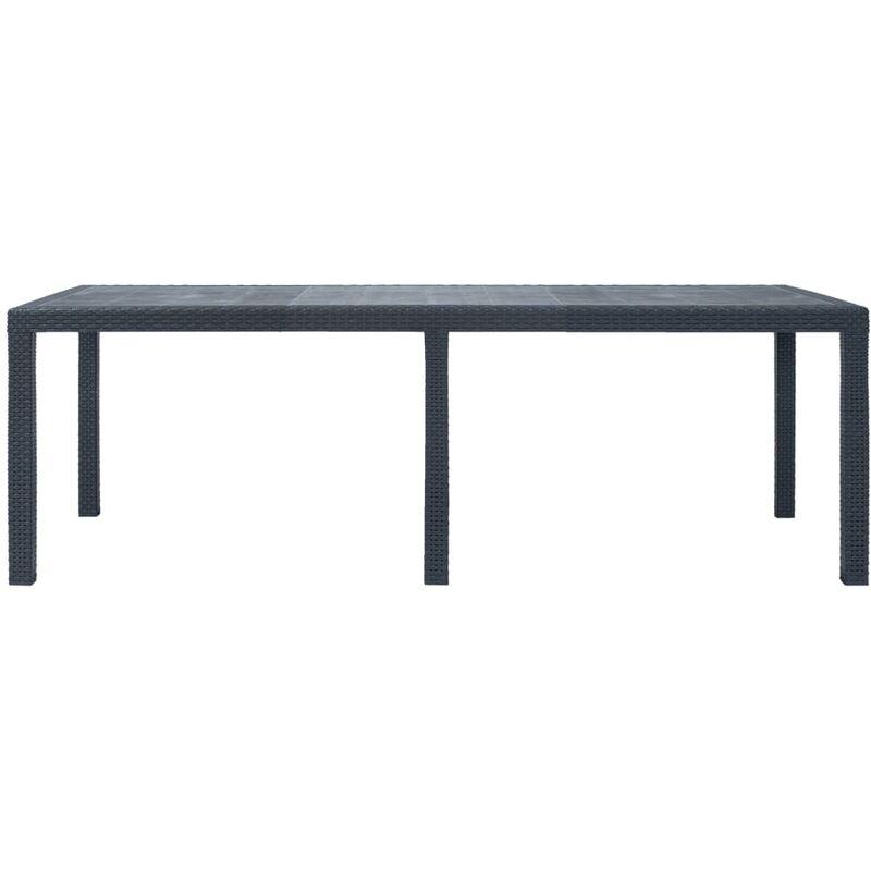 Aspect rotin cm Plastique jardin de Anthracite Table 220x90x72 PkXwiuZOT