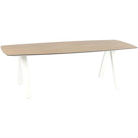 Table De Jardin Barcelone 8 Personnes Blanc 511702