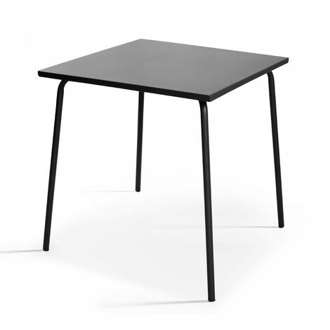 Table de jardin bistro carrée en métal