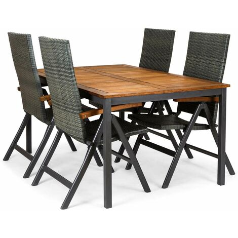 Table de jardin Blackbird en bois eucalyptus FSC et aluminium 160 x ...