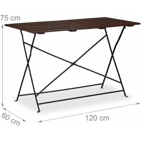 Table de jardin camping en métal pliante pour 4 personnes ...