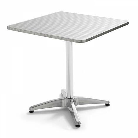 Table de jardin carrée en aluminium 70x70cm Chelsea - Gris