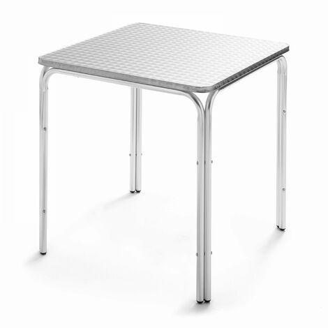 Table de jardin carrée en aluminium Nothing Hill - Gris