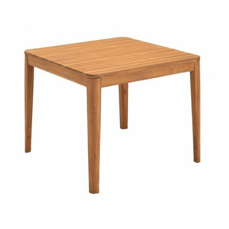 Table de jardin carrée en bois d'acacia - Sun 9360 - naturelle
