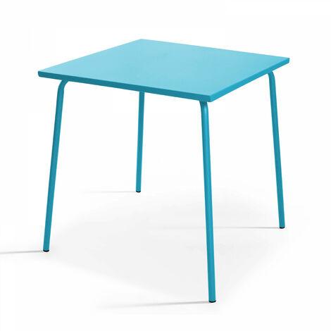 "main image of ""Table de jardin bistro carrée en métal"""