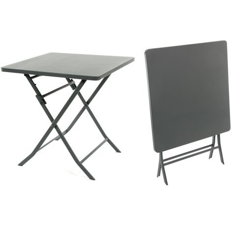 Table de jardin carrée Greensboro 70 x 70 cm Ardoise - Hespéride