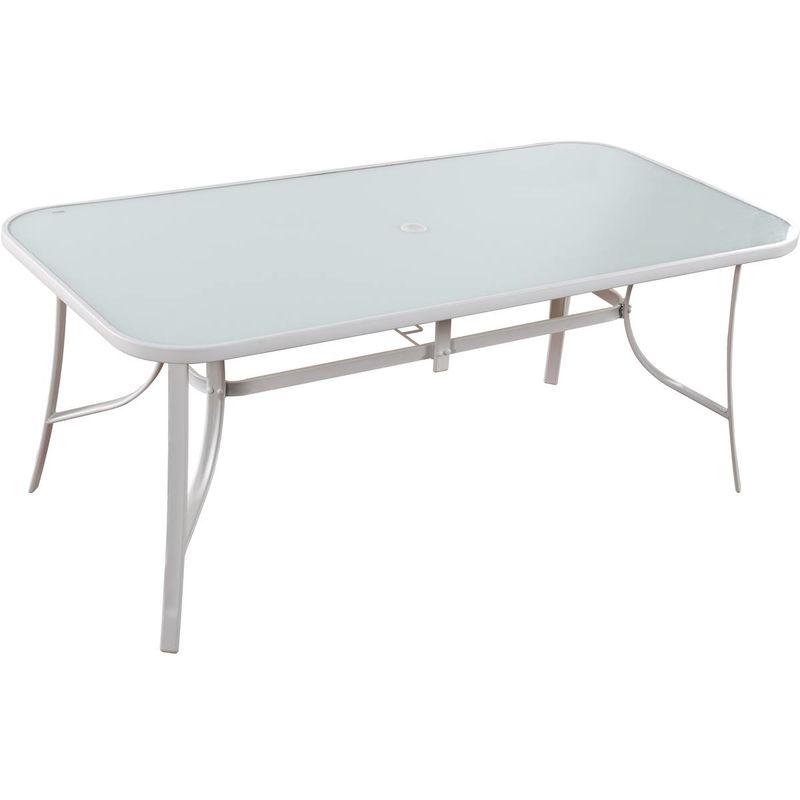 Table de jardin 'Cordoba' - Phoenix - 8 places - Blanc