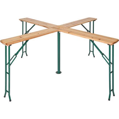 Table de Jardin de Réception Pliante Haute en Bois 241 cm x ...