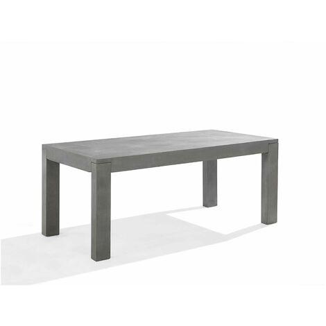 Table de jardin en béton durable pour 6 personnes