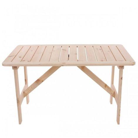 Table de jardin en bois de pin massif 130x80x71cm