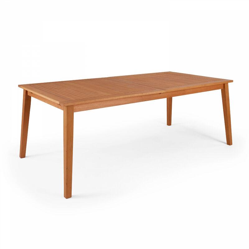 Table de jardin en bois extensible 200-250cm - Marron