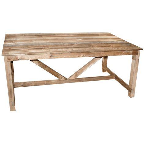 Table de jardin en bois Normand 6/8 places