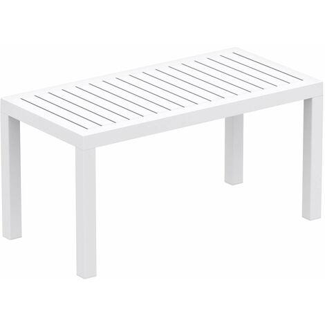 Table de jardin en plastique blanc résistante aux intempéries - blante