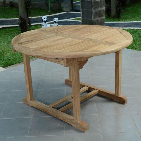 Table de Jardin en Teck Extensible ø 120 cm - Roma - KAJG-407