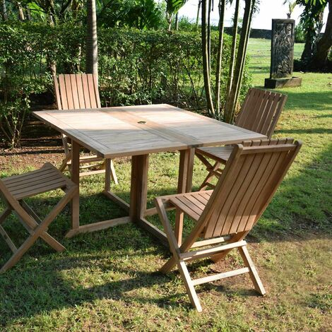 Table de jardin en Teck Pliable 120 x 120 cm - Goa - KAJG-202