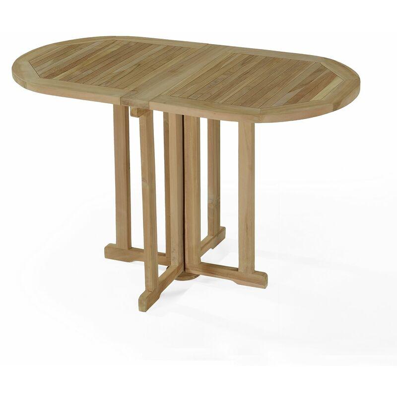 Table de jardin en Teck Pliable 120 x 60 cm - Manoï - KG-200