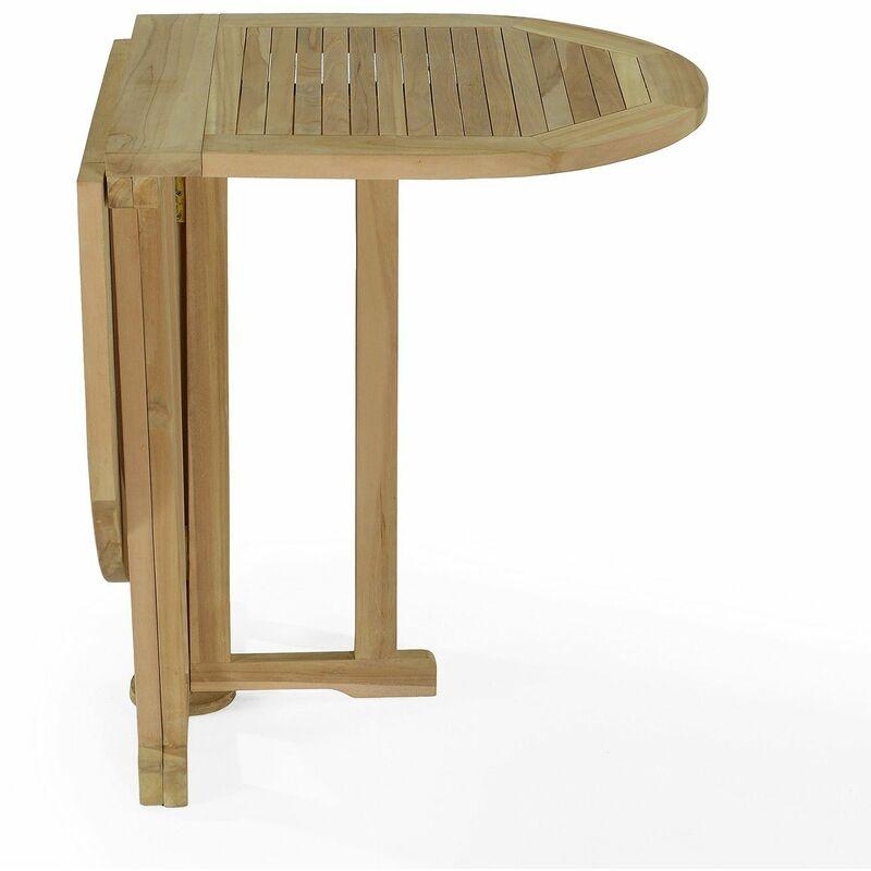 Table de jardin en Teck Pliable 120 x 60 cm - Manoï