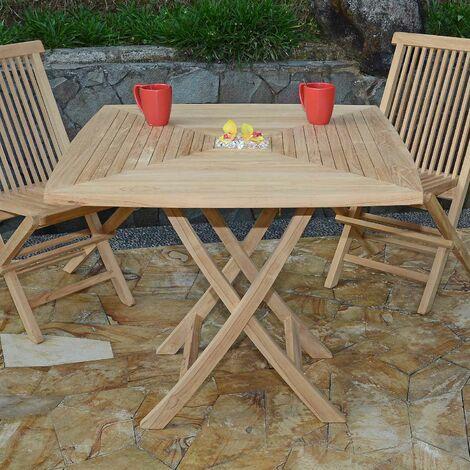 Table de jardin en Teck Pliable 90 x 90 cm - Cardif - KG-209