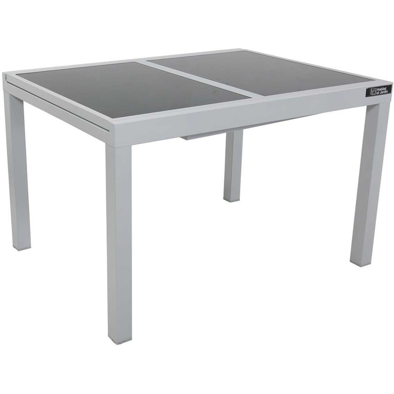 Table de Jardin Extensible Aluminium Tropic 8 Habitat et ...