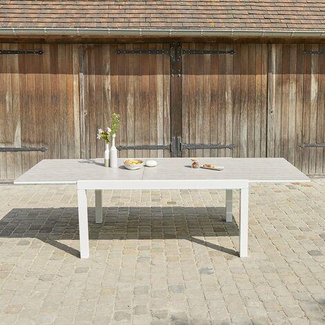 Table de jardin extensible en aluminium 6/10 places