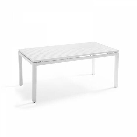 Table de jardin extensible en aluminium 8 personnes Galilée Galilée - Blanc