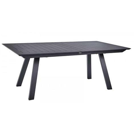 Table de jardin extensible en aluminium, anthracite matt - Dim : 200/300 x 110 x 75cm -PEGANE-