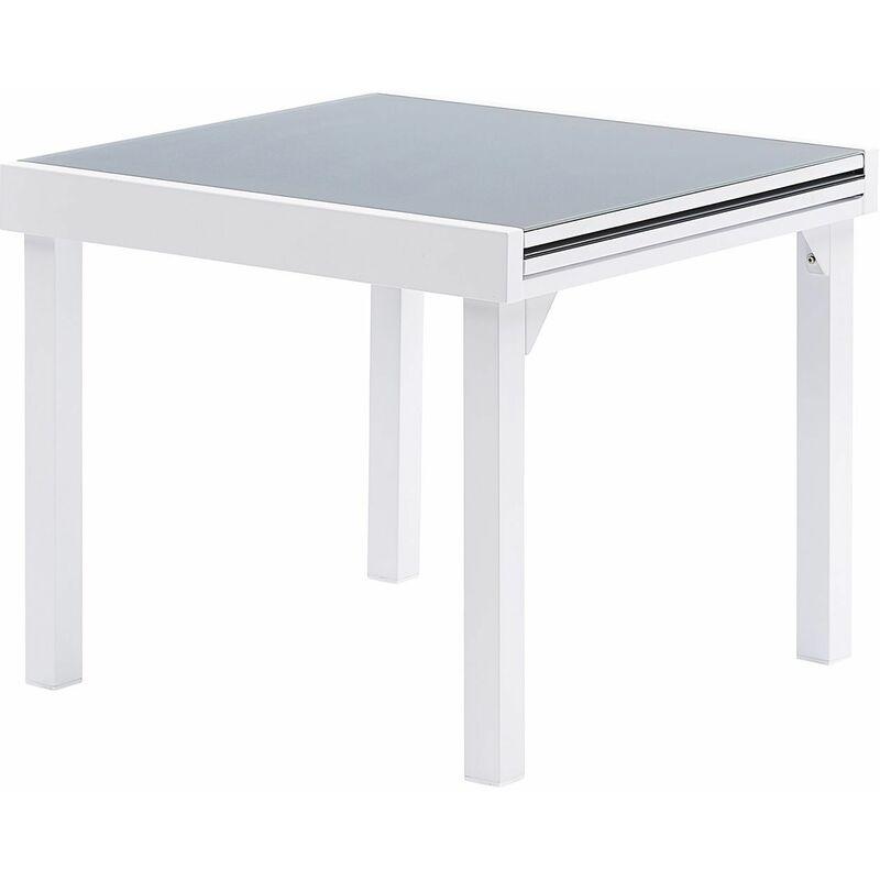 Table jardin Modulo 4 à 8 personnes Blanc - Blanc