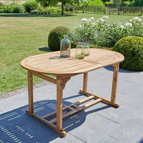 Table de jardin extensible en bois d'acacia FSC 6 à 8 places