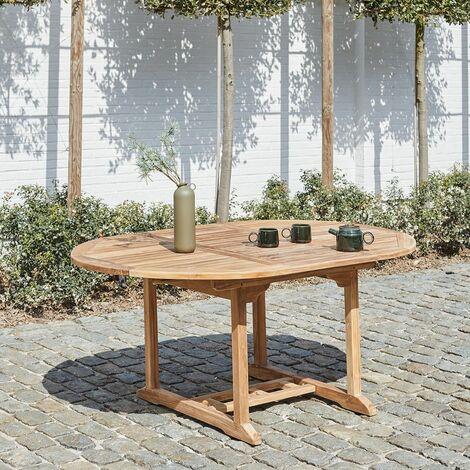 Table de jardin extensible en teck 6/8 personnes - Naturel