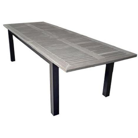 Table de jardin extensible en teck - Dim : 220/280 x 100 cm