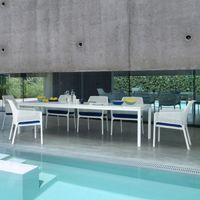 Rio Table Blanc De Jardin Design Et Par Extensible 100x210280 Nardi Extérieur 0OnwPk