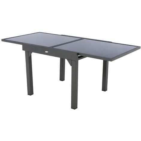 Table de jardin extensible Piazza - 8 Personnes - Gris graphite