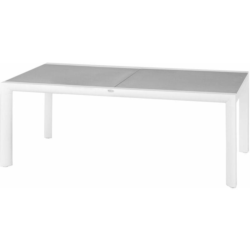 Table De Jardin Extensible Titanium 12 Personnes Gris Perle Et