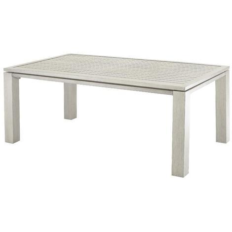 Table de jardin FIERO en aluminium look bois, 180x103x73cm couleur ...