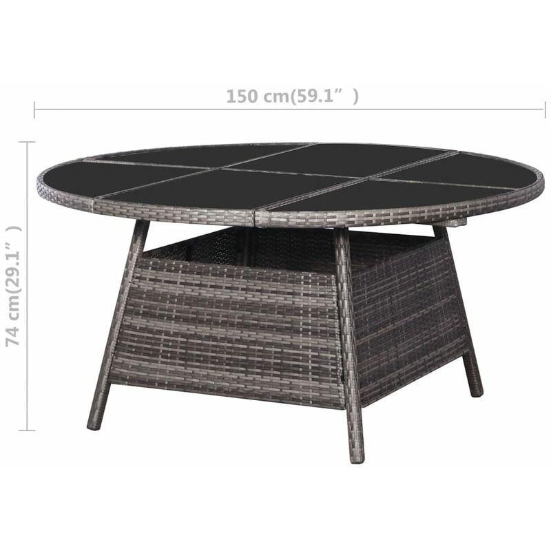 Salle A Manger De Jardin En Resine Tressee table de jardin gris 150 x 74 cm résine tressée