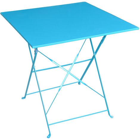 table de jardin hesp ride carr e camargue 70 x 70 cm lagon. Black Bedroom Furniture Sets. Home Design Ideas