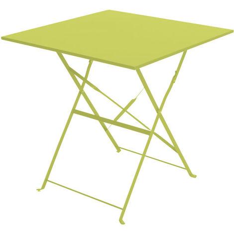 Table De Jardin Hesperide Carree Camargue 70 X 70 Cm Vert