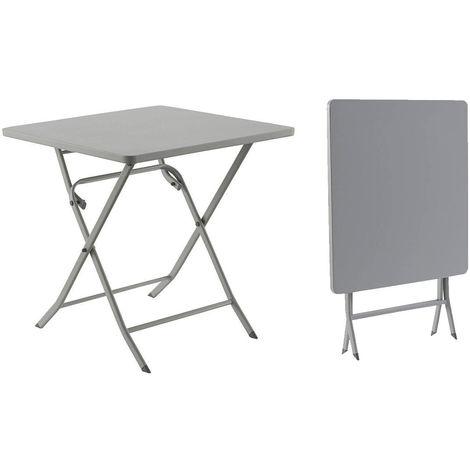 table de jardin hesp ride carr e greensboro 70 x 70 cm. Black Bedroom Furniture Sets. Home Design Ideas