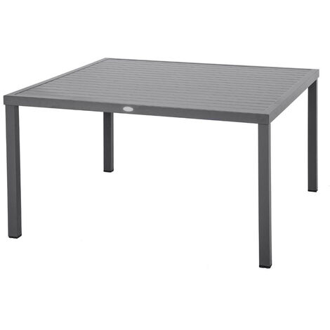 table de jardin hesp ride carr e piazza 8 places graphite hesp ride. Black Bedroom Furniture Sets. Home Design Ideas